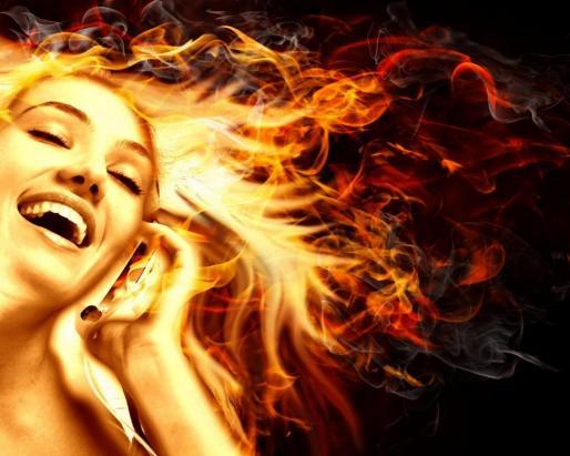 headphones-girl-fire-376159